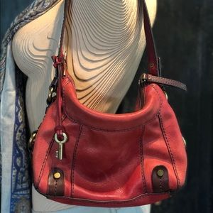 Red Genuine Leather FOSSIL Purse